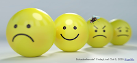 3 frown faces 1 smiley face;  small housefly on 3rd frownface; produced for TLT Group's FridayLive! Oct 9, 2020 https://tlt.gs/frlv Image(s) in public domain  see  https://neurosciencenews.com/schandenfreude-emotion-pain-12043/  and  https://commons.wikimedia.org/wiki/File:Common_house_fly,_Musca_domestica.jpg  This image or file is a work of a United States Department of Agriculture employee, taken or made as part of that person's official duties. As a work of the U.S. federal government, the image is in the public domain.